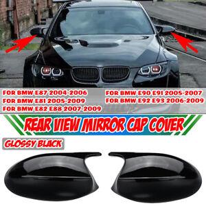 Pair For BMW E81 E87 E90 E91 E92 E93 PRE-LCI M3 Style Side Mirror Cover Cap Glos