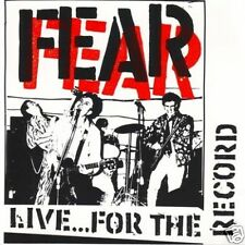 """FEAR """"Live... for the record"""" 1986 (CD) Restless Rec."""