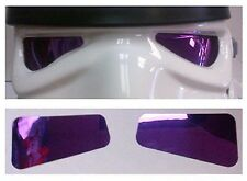 Reflective Soft Film Lenses in Purple - made for a Stormtrooper Helmet - from UK