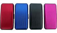 Plixio Aluminum Wallet Credit Card Holder w/ Mirror Purse Organizer RFID 7 Slot