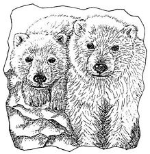 Unmounted Rubber Stamps, Alaska, Wildlife Stamps, Polar Bears, Polar Bear Cubs