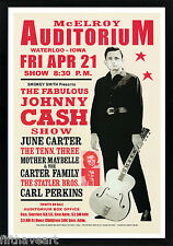 Johnny Cash Vintage Concert Advertisement Poster Custom Framed