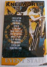 PINK FLOYD Laminated EVENT STAFF Backstage Tour Pass - KNEBWORTH 1990