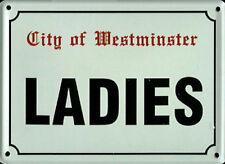 Damen (London-Zeichen) Blechpostkarte / Mini-Zeichen (Hi)