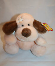 """BOO BOO DOG 8"""" Jerry Elsner Plush Get Well Soon Pink Brown Stuffed Animal 1127"""