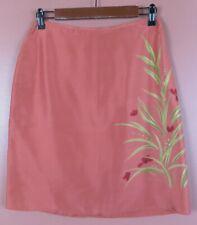 SK16119-NWT PETTIE SOPHISTICATE Womens Silk Pencil Skirt Multicolor Floral 8 $58