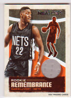 CARIS LeVERT, 2019-20 Panini ROOKIE REMEMBRANCE Relic Card #RR-CLV, Nets