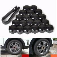 20PCS/Pack 17mm Wheel Bolt Nut Caps Covers Fit For VW Audi Skoda Durable - Black