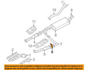 NISSAN OEM Exhaust-Front Pipe Gasket 2069265J00