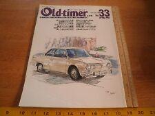 Old-timer 33 Japan car magazine Vintage cars 1990s