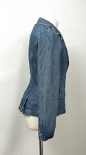 P590/41 Pringle Cotton Blue Denim Sexy Fitted Jacket, UK 10 Euro 38