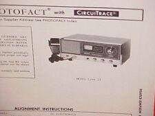 1973 PEARCE-SIMPSON CB RADIO SERVICE SHOP MANUAL MODEL LYNX 23