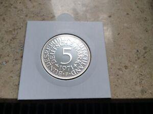 BRD 5 DM Silberadler PP ( Wählen Sie zwischen den Jahren: 1966 - 1974 und DFGJ )