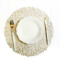 Plastic Hollow Round Coaster Insulation Pad Table Placemat Mat Dining Home Decor