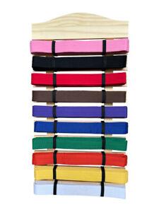 Sedroc Martial Arts Belt Display Holder Rack Wall Mount Karate Taekwondo 10 Rank