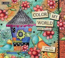 2019 Lang Color My World Wall Calendar by Lisa Kaus NEW