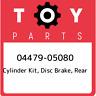 04479-05080 Toyota Cylinder kit, disc brake, rear 0447905080, New Genuine OEM Pa