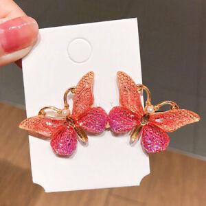 Women Girls Butterfly Hair Clip Hair Pins Acrylic Metal Clamps Hair AccessorFCA