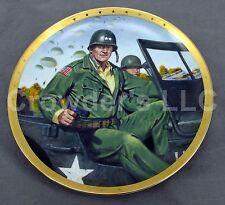 John Wayne, Remembering D-Day Franklin Mint LE Fine Porcelain Plate US Army Deco