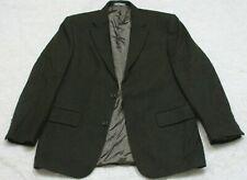 Oscar De La Renta Dress Suit Jacket Blazer 2 Button 42 Gray Wool Cashemere Nylon