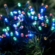 Premier Decorations 200 Multi Action BO Xmas Multicolour LED Lights with Timer