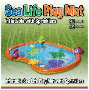 LARGE INFLATABLE Infants Kids Water Playmat Paddling Pool Sprinkler Pad Mat UK