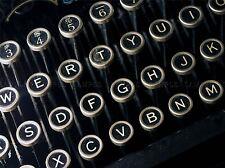 FOTO dettaglio antico retrò vintage macchina da scrivere TASTIERA art print poster mp3916a