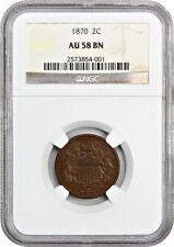 1870 2c NGC AU58 - 2-Cent Piece
