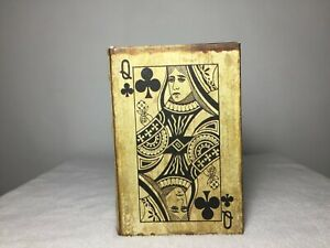 CARD TRICKS CASE BOOK - Vintage Ace Playing Cards Games Book,  Boxes 36497