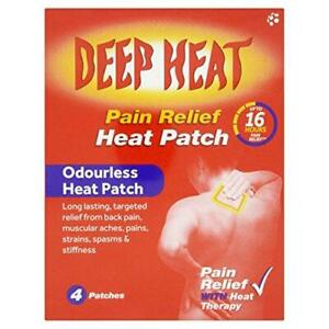 Deep Heat Pain Relief Heat Patch, Regular - Pack of 4 patches