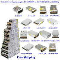 AU Switch Power Supply Adapter AC 220V/250V to DC 5V/12V/24V for LED Strip Light