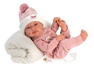 Mädchen Babypuppe Mona, 43 cm anatomisch korrekter Vinylkörper von M. Llorens