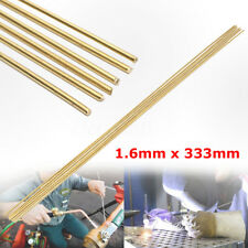 6PCS 1.6x333mm Brass Rods Wires Sticks For Repair Welding Brazing Soldering