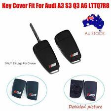 AU Fit For Audi A3 S3 Q3 A6 LTTQ7R8 S3 logo key case back cover 3-button Car Key