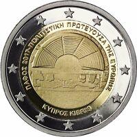 Zypern 2 Euro Münze Kulturhauptstadt Paphos 2017 Gedenkmünze Polierte Platte