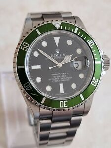 "Rolex Submariner ""Kermit"" Stainless Steel Automatic Date Watch Ref.16610T"
