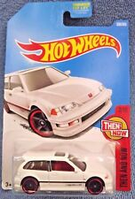 2017 Hot Wheels #330 Then and Now 2of10 '90 Honda Civic EF White w/Black Pr5sp