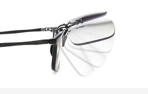 Rimless Transition Multifocal Clips Lens Progressive Anti Blue Reading Glasses