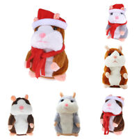 Cute Talking Hamster Repeat -What You Say- Plush Electric Doll Kid Toy Xmas Gift
