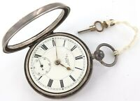 ".1898 WALTHAM PRIVATE LABEL ""J G GRAVES"" STERLING SILVER 18S MENS POCKET WATCH"