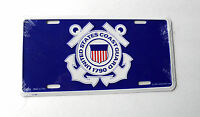 US Coast Guard Anchor Embossed Metal License Plate for Auto Car 6 X 12 inches