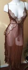 $148 Victorias Secret Designer Collection Sexy Gown Nightie Dress Silk Lace L