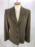 Bill Burns New York Women's Brown Wool Blazer Jacket 10