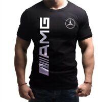 Меrсеdеs AMG Веnz T-Shirt Fait Main Noir Logo Homme  Coton Gang CL 63 55 65 GL