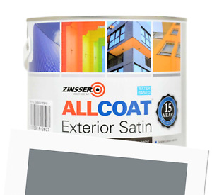Zinsser Allcoat Exterior 15 Year Protection WB Tintable Grey RAL 7046 Satin 1L