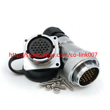 WS28 26Pin 5A Waterproof Connector, Male Female Aviation Bulkhead Connector Plug