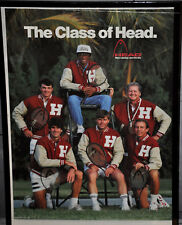 ARTHUR ASHE 'The Class of Head' 1990 Tennis Poster Vintage (308)