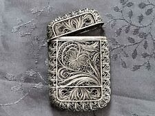 CHINESE SILVER CARD CASE ETUI A CARTE DE VISITE  CHINE ARGENT MASSIF filigramme