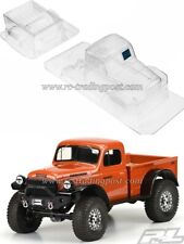 """1946 Dodge Power Wagon Clear Body for 12.3"""" (313mm) Wheelbase Scale Crawlers"""