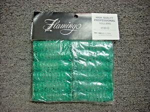 """Brush Hair Rollers (Green) 5/8"""" 12pk Morris Flamingo #4150c"""